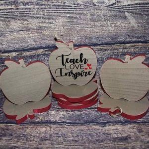 Teacher wooden ornaments